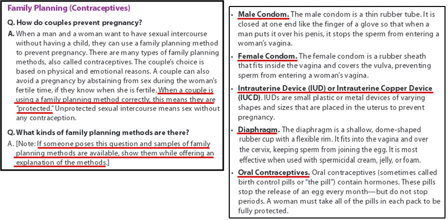 pregnancy and family planning methods