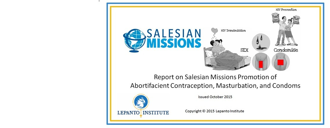 Salesian Missions Promote Masturbation, Contraception